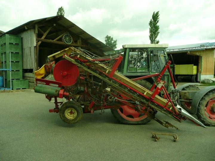 A used leek harvester.